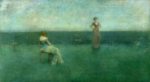 Thomas Wilmer Dewing - The Recitation 1891