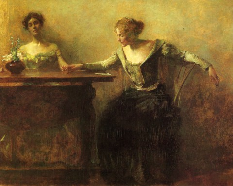 Thomas-Wilmer-Dewing-xx-The-Fortune-Teller-xx-Private-Collection
