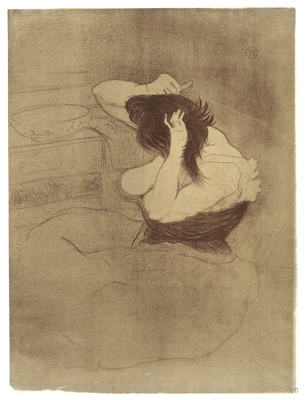 Toulouse_Lautrec_Woman_Combing_Hair